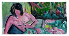 Bath Towel featuring the painting Nude After Matisse  by Betty Pieper