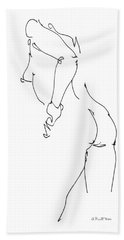 Nude Female Drawings 11 Bath Towel