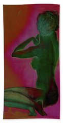 Nude Woman Hand Towel by Svelby Art