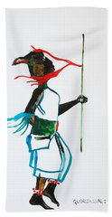 Nuer Dance - South Sudan Bath Towel by Gloria Ssali