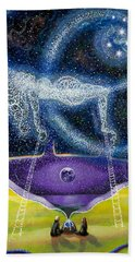 Nuit And The Seven Sisters Bath Towel
