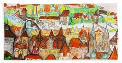 Nuremberg Germany Bath Towel by Irina Afonskaya
