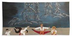 Nutcrackers Dance Of Russian Cossacks Hand Towel