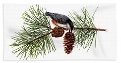 Nuthatch 1 Hand Towel
