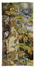 Nuthatch And Creeper Hand Towel