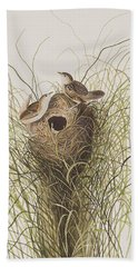 Nuttall's Lesser-marsh Wren  Hand Towel by John James Audubon