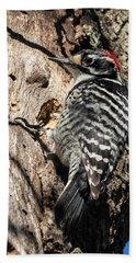 Nuttall's Woodpecker Bath Towel