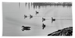 Nyack Geese  Hand Towel by Chuck Kuhn