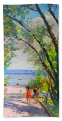 Nyack Park A Beautiful Day For A Walk Hand Towel