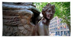 Nyc Library Angel Hand Towel by Susan Lafleur