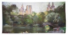 Nyc Resting In Central Park Bath Towel