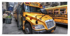 Nyc School Bus Bath Towel