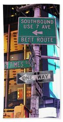Nyc Street Sign Bath Towel
