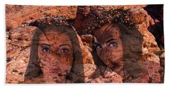 Nymphs Of The Red Rocks Bath Towel