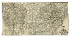 O And M Map Hand Towel