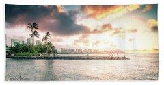 Oahu Sunrise Hand Towel
