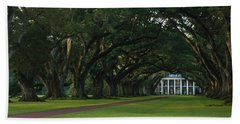 Bath Towel featuring the photograph Oak Alley Plantation In The Summer Time by Chris Coffee