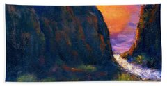 Bath Towel featuring the painting Oak Creek Canyon by Gail Kirtz