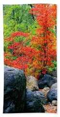Oak Creek Canyon Red Hand Towel
