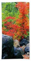 Oak Creek Canyon Red Hand Towel