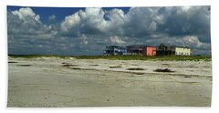 Oak Island Beach Houses Hand Towel