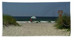Oak Island Beach Vacancy Hand Towel