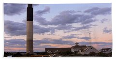 Oak Island Lighthouse Hand Towel by Shelia Kempf