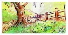 Oak Tree Hill Hand Towel