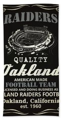 Oakland Raiders Whiskey Hand Towel by Joe Hamilton