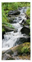 Bath Towel featuring the photograph Oasis Cascade by David Chandler