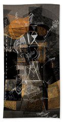 Objects In Space With Ochre Bath Towel