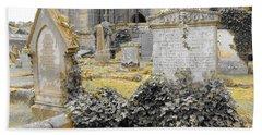 Oblivion. Ivy And Golden Lichen Bath Towel