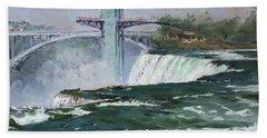 Observation Tower In Niagara Falls Bath Towel