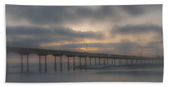 Ocean Beach Pier San Diego Ca Hand Towel by Bruce Pritchett