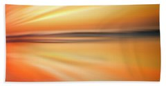 Ocean Beach Sunset Abstract Hand Towel