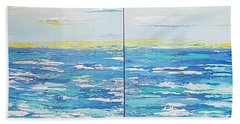 Hand Towel featuring the painting Ocean Blue by Judi Goodwin