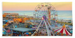 Ocean City New Jersey Boardwalk And Music Pier Bath Towel