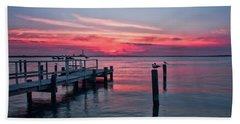 Ocean City Summer Sunset Hand Towel