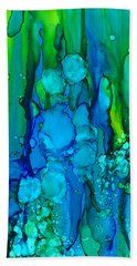Bath Towel featuring the painting Ocean Depths by Nikki Marie Smith