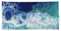 Hand Towel featuring the painting Ocean by Jamie Frier