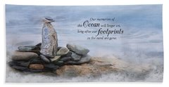 Hand Towel featuring the photograph Ocean Memories by Robin-Lee Vieira