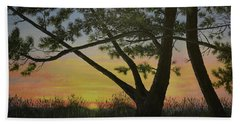 Hand Towel featuring the painting Ocean Pines by Kathleen McDermott