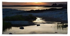 Ocean Point Sunset In East Boothbay Maine  -23091-23093 Hand Towel
