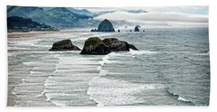 Ocean Rocks Off The Oregon Coast Hand Towel