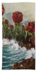 Ocean Rose Hand Towel