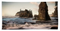 Hand Towel featuring the photograph Ocean Spire Signature Series by Chris McKenna