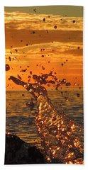 Ocean Splash Hand Towel by L Hollis