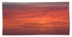 Ocean Sunrise Hand Towel by Kathy Long