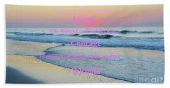 Ocean Sunrise Serenity Prayer Bath Towel