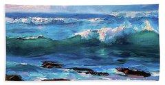 Coastal Ocean Sunset At Turtle Bay, Oahu Hawaii Beach Seascape Bath Towel